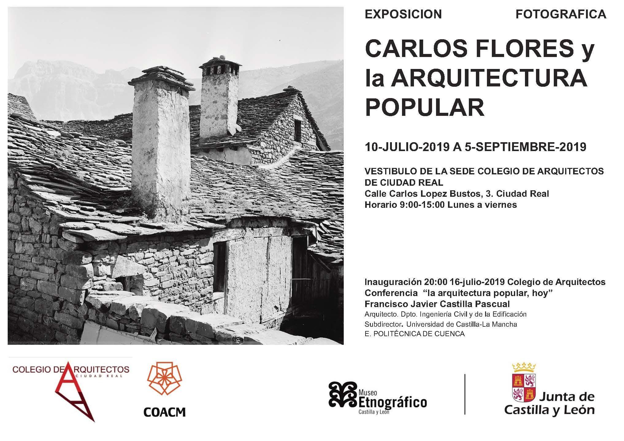 'Carlos Flores y la Arquitectura Popular', hasta septiembre, en el Colegio de Arquitectos de Ciudad Real