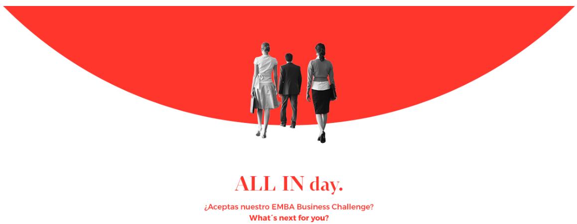 EAE Business School organiza All in day EMBA ? Business Challenge para ganar una beca para el Executive MBA