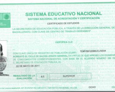 para que sirve un Certificado de estudios