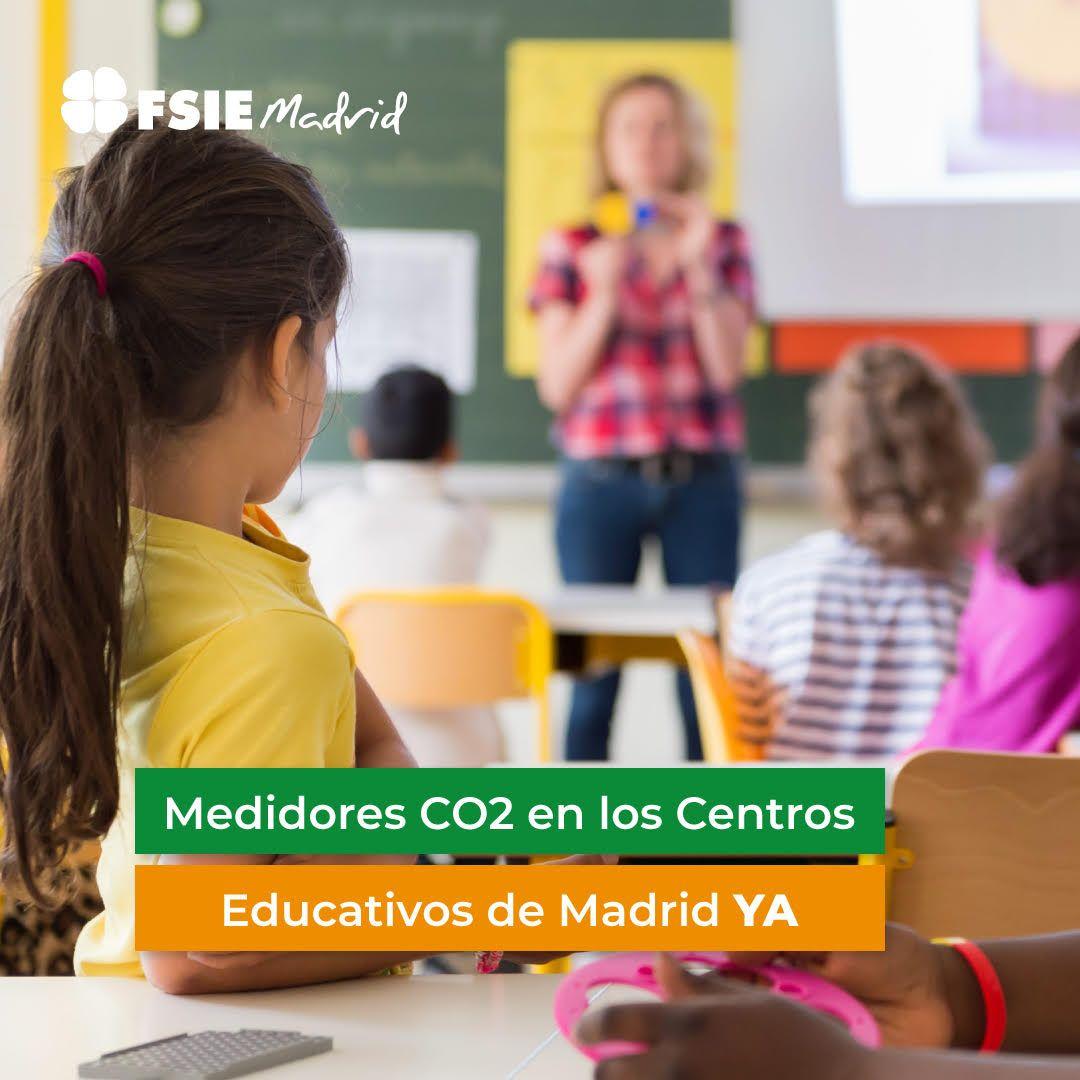 FSIE Madrid denuncia que no han llegado medidores de CO2 a los colegios concertados