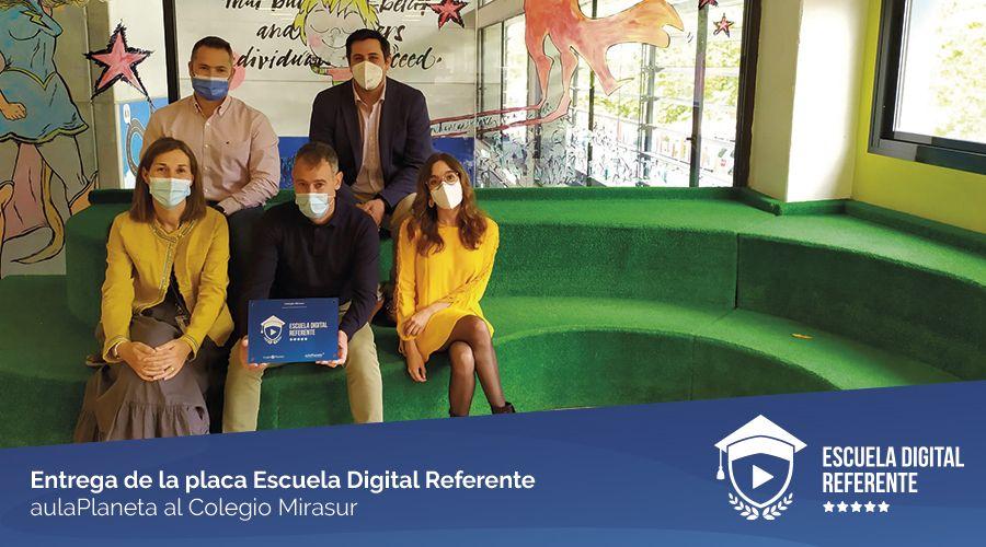 El Colegio Mirasur de Madrid, reconocido como Escuela Digital Referente por aulaPlaneta